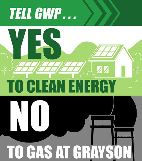 Yes to Clean Energy / No to Gas at Grayson