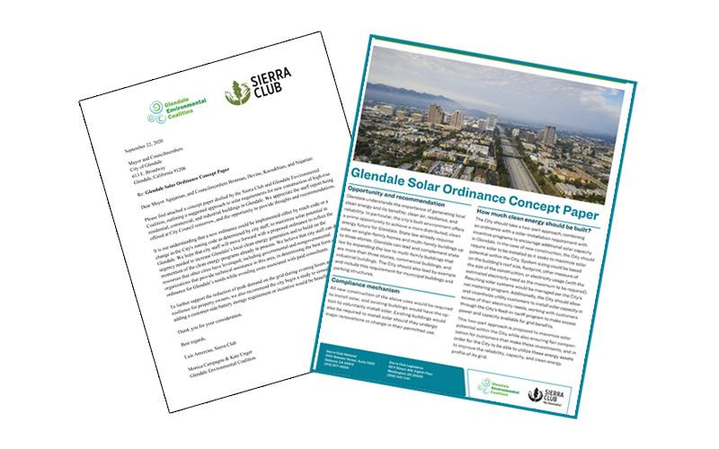 GEC & SIERRA CLUB Offer Solar Ordinance Concept Paper