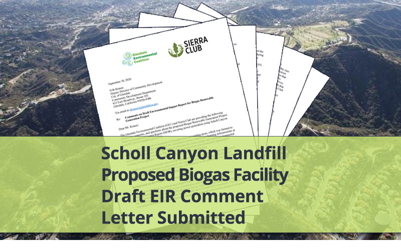 GEC Submits Scholl Biogas Project Draft EIR Comment Letter