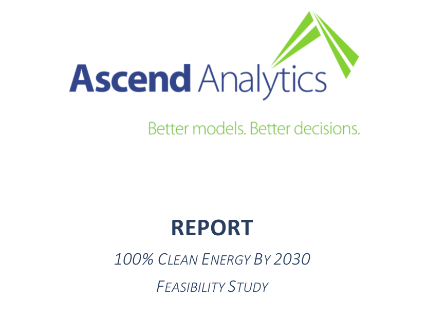 GEC Comment Letter RE: Ascend Analytics 100% Clean Energy by 2030 Study